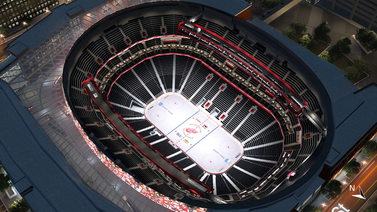 Detroit Red Wings Virtual Venue By Iomedia